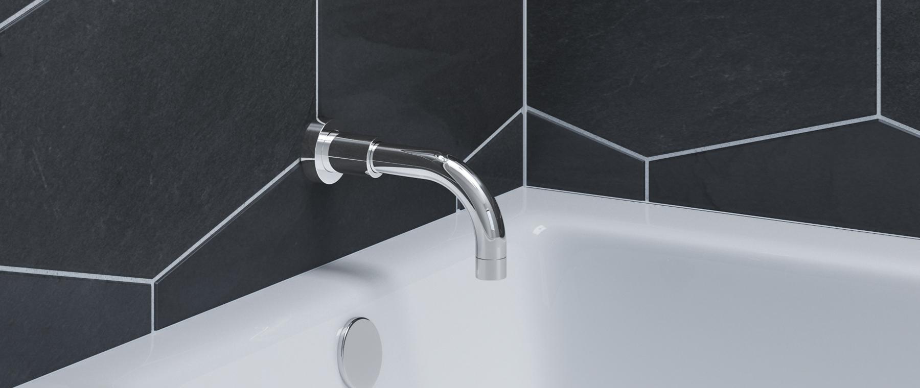 ALT | Round tub spout with diverter