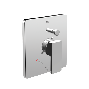 Riga trim set for ThermOne thermostatic valve with diverter