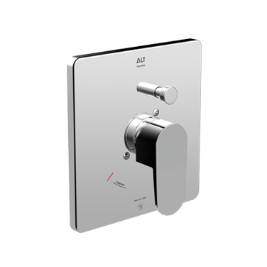 Misto trim set for ThermOne thermostatic valve with diverter