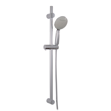 Round shower rail