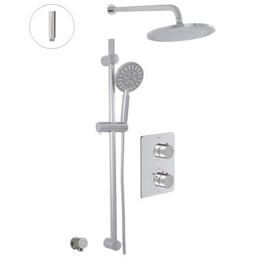 Thermostatic shower system – 2 functions
