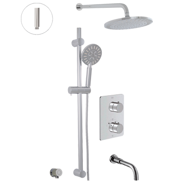Thermostatic shower system – 3 functions