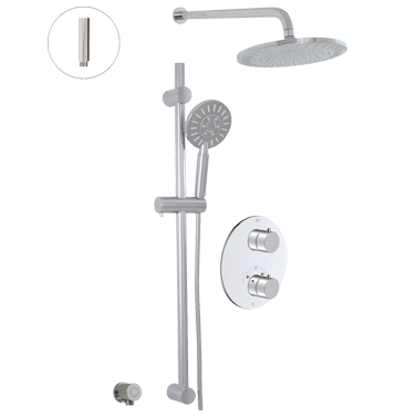 Circo Thermostatic shower system – 2 functions