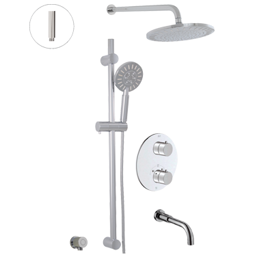 Thermostatic shower system Circo – 3 functions
